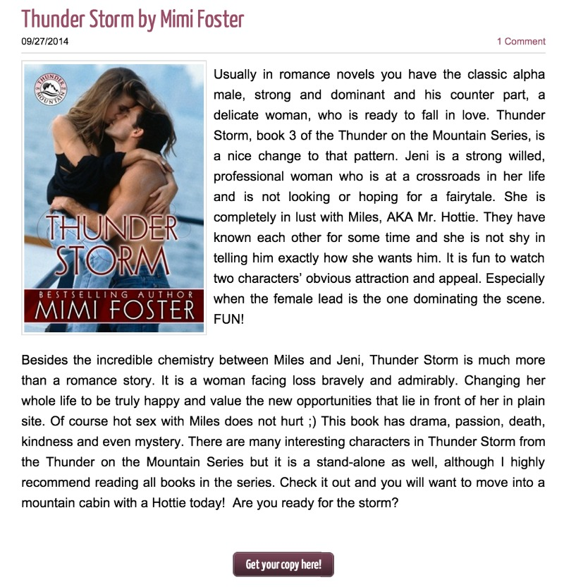 Review of Thunder Storm
